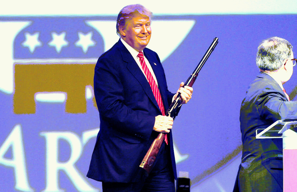 Praise The Donald and pass the ammunition?