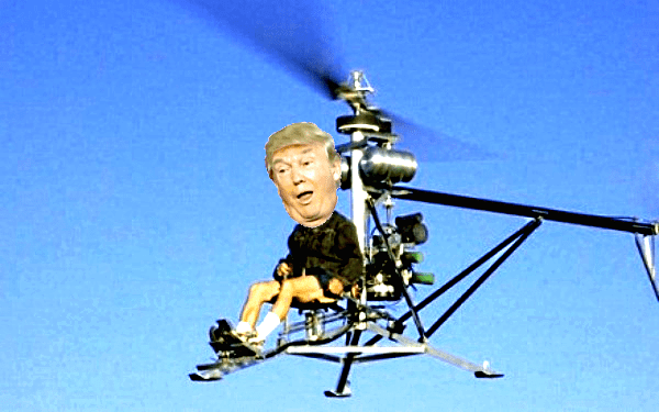 As you'll see, the real Trump Helicopter Ride memes get a lot uglier than this