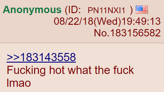 Fucking hot what the fuck lmao