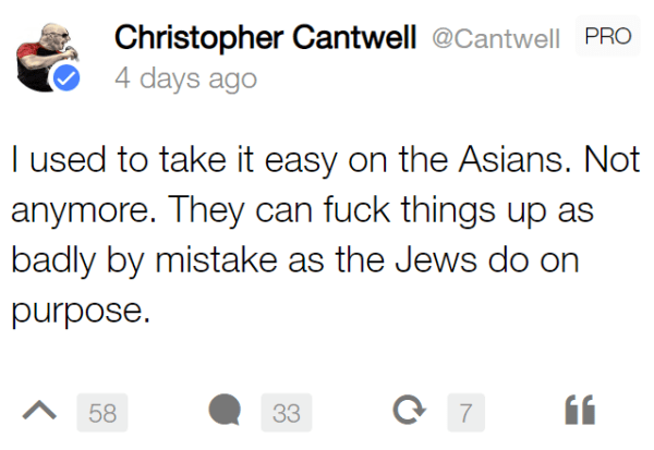 I used to take it easy on the Asians. Not anymore. They can fuck things up as badly by mistake as the Jews do on purpose.