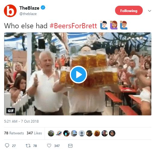 TheBlaze  Verified account @theblaze Following Following @theblaze More Who else had #BeersForBrett