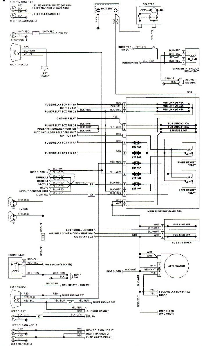 1991 subaru loyale power window wiring diagrams