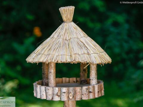 vogelhaus birkenholz vogelhäuser birke natur - weidenprofi gmbh - weidenzäune
