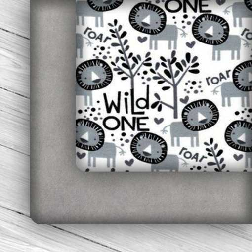 Custom Weighted Blanket Silver/Wild One Combo