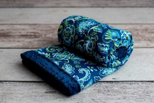 Custom Weighted Blanket Midnight/Floral Combo
