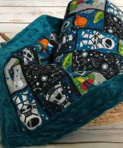 Custom Weighted Blanket Mallard/Astronauts Combo