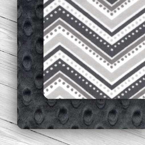Custom Weighted Blanket Ash/Gray Chevron Combo