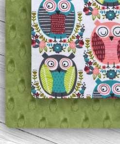 Custom Weighted Blanket Kiwi/Owl Combo
