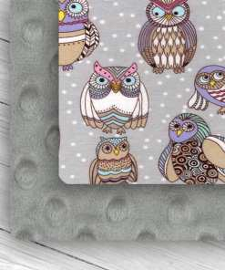 custom weighted blanket owl/silver combo swatch
