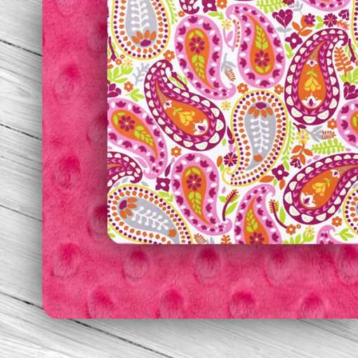 Custom Weighted Blanket Fuchsia/Paisley Combo