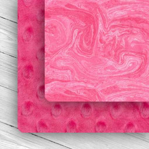 Custom Weighted Blanket Fuchsia/Pin k Oil Spill Combo