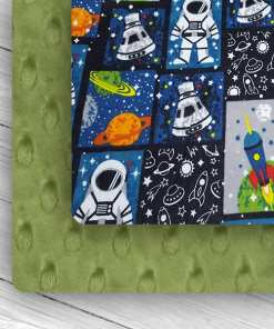 Custom Weighted Blanket Kiwi/Astronauts Combo