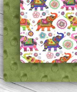 Custom Weighted Blanket Combo Kiwi & Elephants