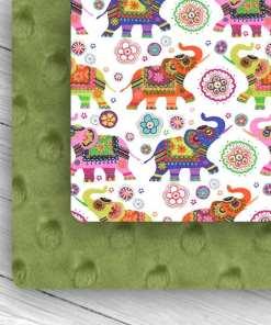 Custom Weighted Blanket Combo Kiwi & Elephants