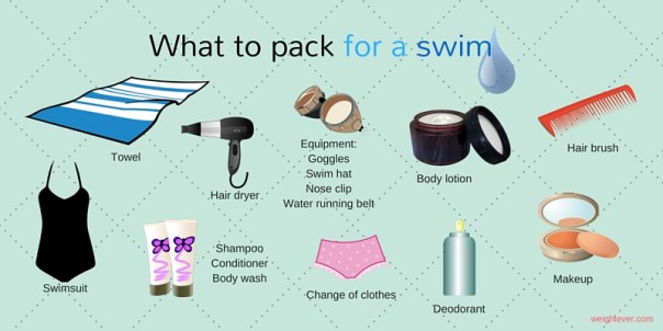 What to pack for a swim