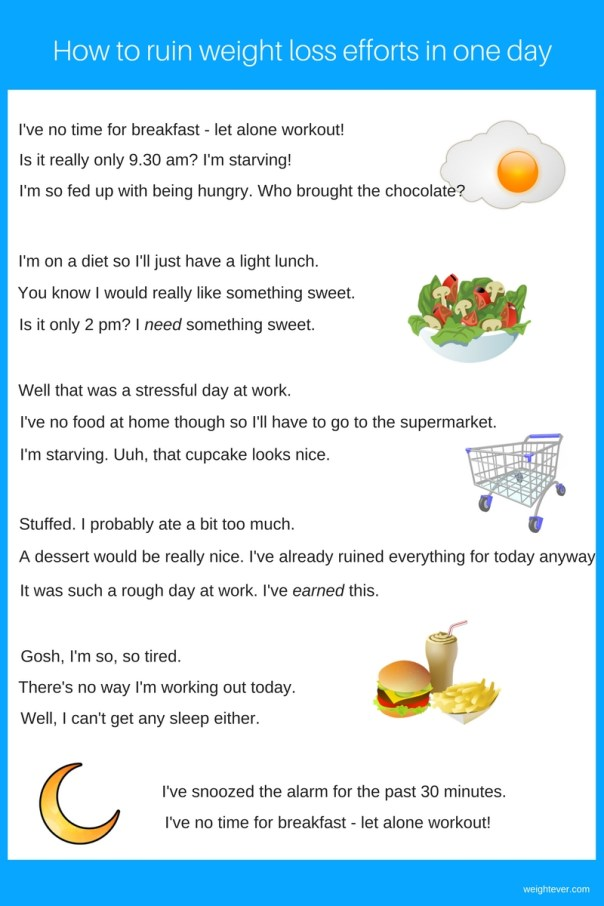 How to ruin weight loss efforts in one day