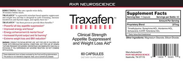 Traxafen Appetite Suppressant Review with Customer Feedback