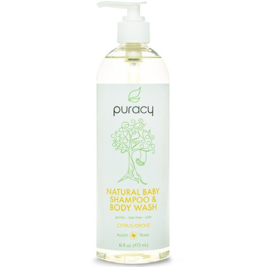 Puracy 100% Natural Baby Shampoo & Body Wash