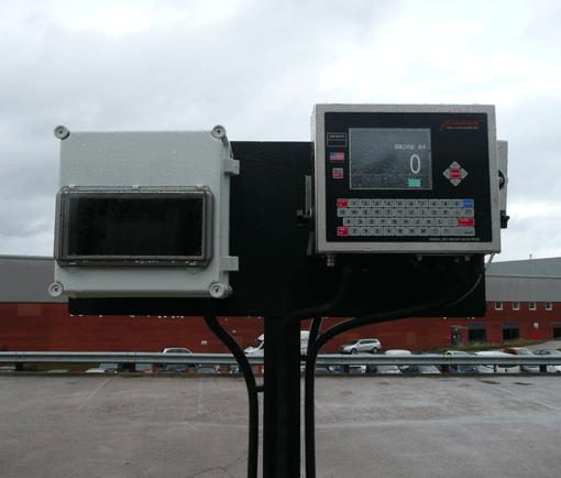 In motion Axle weighbridge display panel