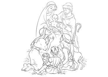 Ausmalbilder für Jeden Weihnachtskarten-Druck
