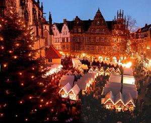 Weihnachten 2004 - Weihnachtsmarkt in Münster