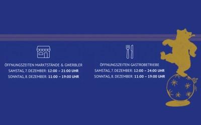 Öffnungszeiten MARKTSTÄNDE & GWERBLER  |  GASTROBETRIEBE