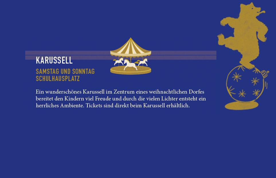 KARUSSELL: Samstag + Sonntag Schulhausplatz