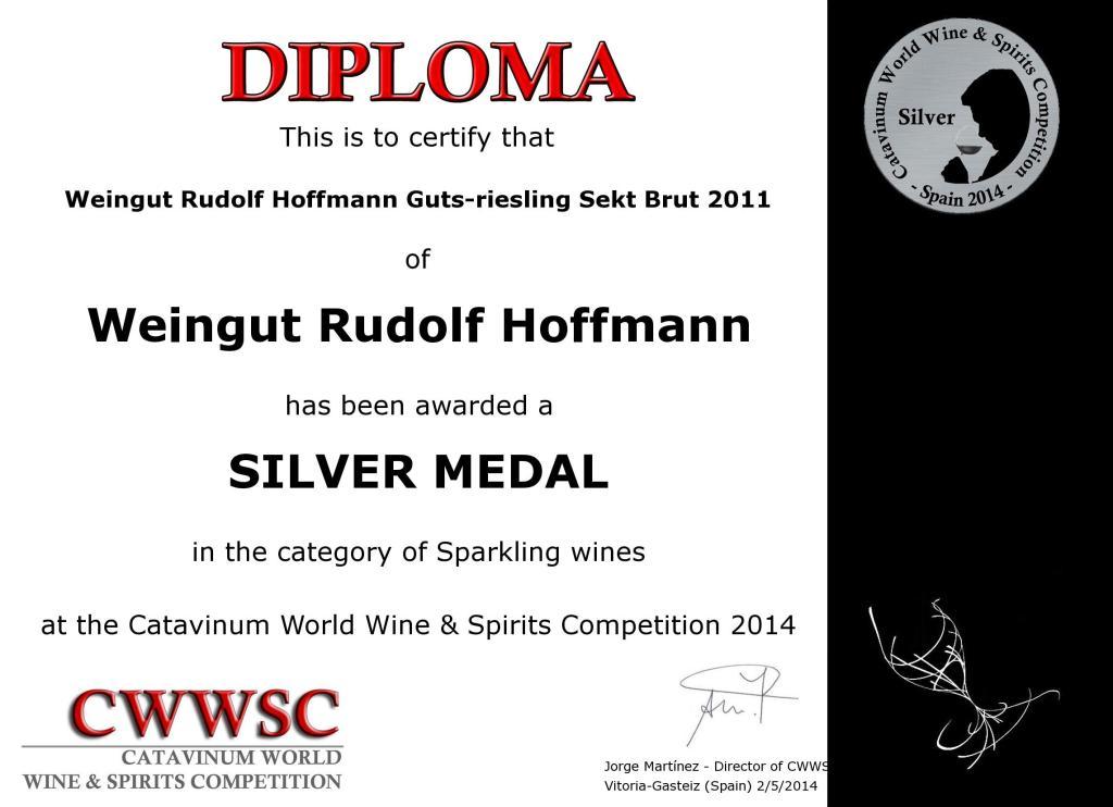 Silver Medal for Guts-Riesling Sekt Brut 2011