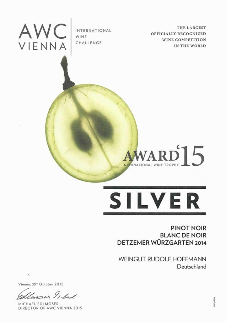 Silver Award for Blanc-de-Noir
