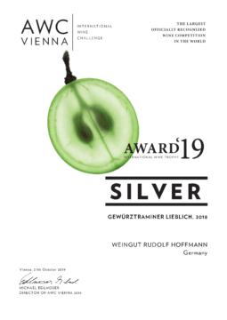 AWC Silber für Gewürztraminer Lieblich 2018