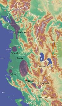 Weinregionen Albanien