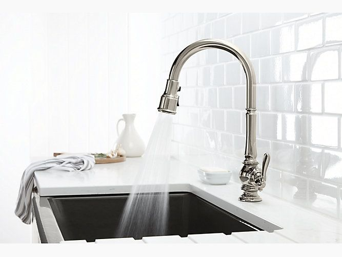 vs pull down kitchen sink faucets