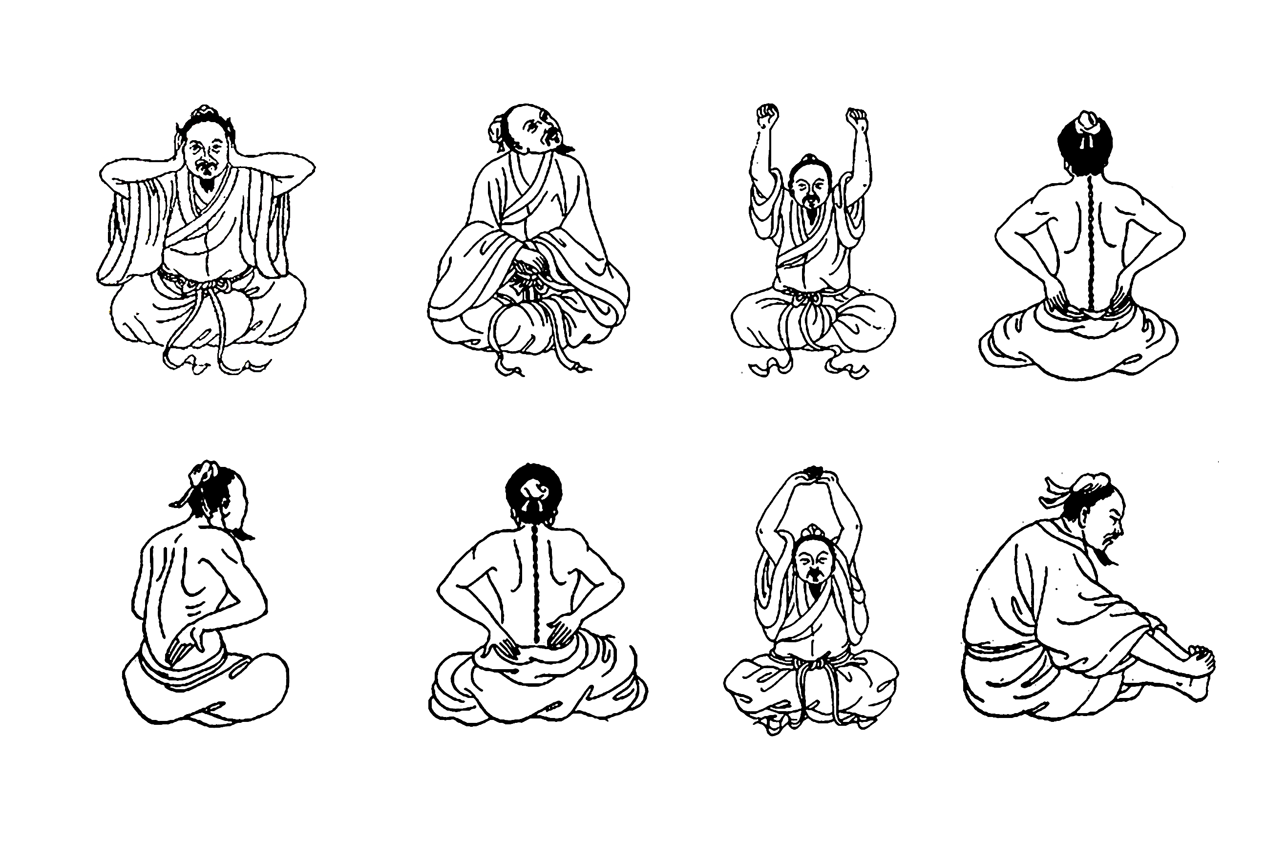 8 Pieces of Brocade Qigong Standing & Sitting Sets