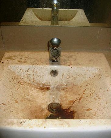Awesome I um talking about sinks and toilets covered in nasty goo doo and residue As someone with obsessive pulsive disorder I pletely concur with their