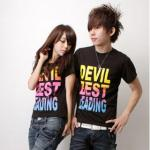 Devil Best Leading Print T-Shirt