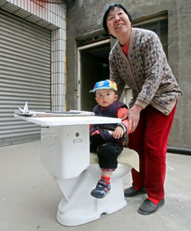 toilets Recycling Toilets into School Desks: Madness or Genius? picture