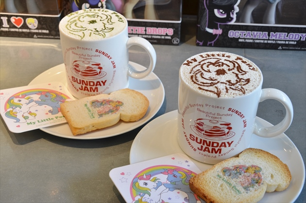 My Little Pony Lattes and biscuits