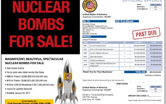 South Korean Newspaper Advertises Nuclear Bombs For Sale