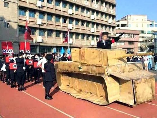 Taiwan High School Nazi Parade