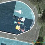 Spongebob Squarepants in a Swimming Pool in Bielefeld, Germany
