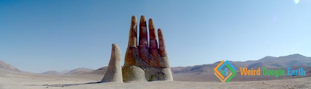 Panorama Mano del Desierto, Antofagasta, Chile