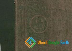 Smiley Face on a Field, Waynesville, Ohio, USA