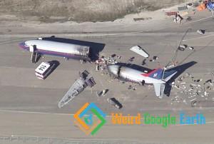 Plane Crash, Alameda, California, USA