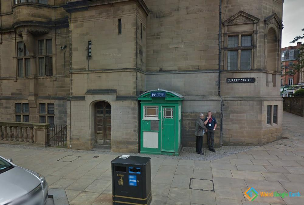Green Police Box, Sheffield, England