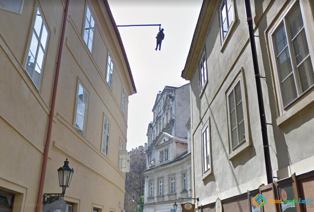 Hanging Sigmund Freud, Prague, Czechia
