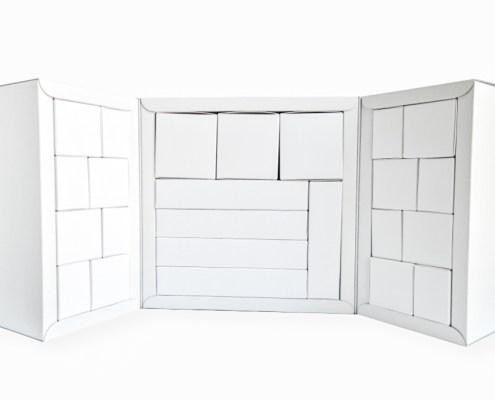 Adventskalender Cube Würfel geöffnet