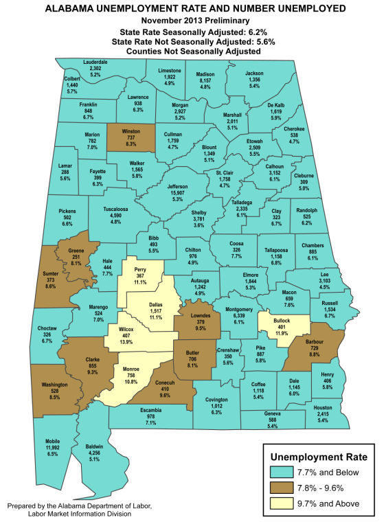 Alabama Rate for November 2013