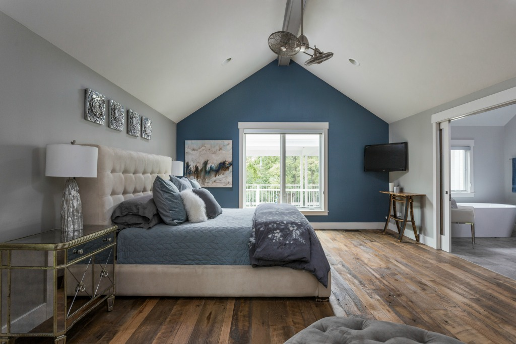 modern rustic house remodel_bedroom long