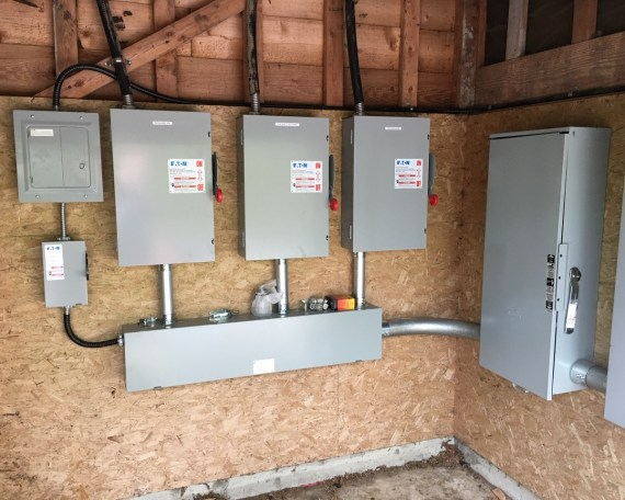 Electrical distribution already completed to accept Solar System