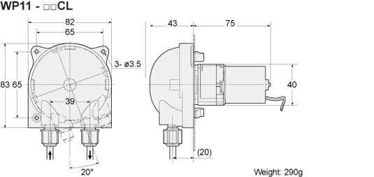 DC Brushless Motor & Gear WP1000/1100|Peristaltic pump